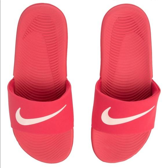 3a0d78465859 Women s Nike Kawa Slide solar red white -solar red